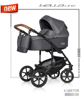 Riko детская коляска 2в1 Riko Bella Life